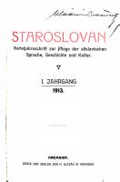 Staroslovan PDF
