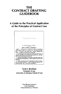 The Contract Drafting Guidebook