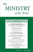 The Ministry of the Word  Vol  23  No  10 PDF
