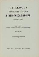 Verzeichniss der orientalischen Handschriften der K  Hof  und Staatsbibliothek in M  nchen