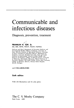 Communicable and Infectious Diseases PDF