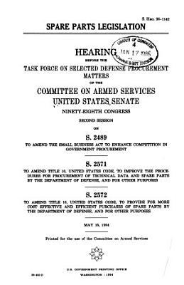 Spare Parts Legislation