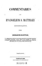 Commentarius in Evangelium Sancti Matthaei