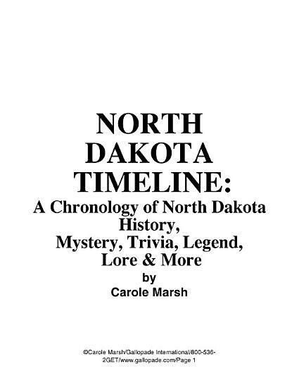 North Dakota Timeline PDF