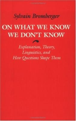 On What We Know We Don t Know