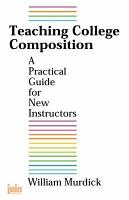 Teaching College Composition PDF