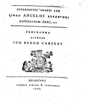 Interpretes graeci LXX quoad Angelos errabundi Deuteronum  XXXII VIII PDF