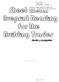 Sheet Metal Blueprint Reading for the Building Trades PDF