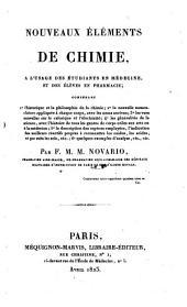 Nouveaux elements de Chimie (etc.)