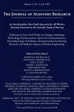 The Journal of Auditory Research