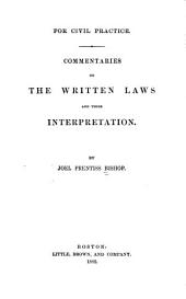 Commentaries on the Written Laws and Their Interpretation