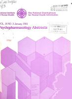 Psychopharmacology Abstracts PDF