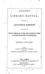 Appleton's Library Manual