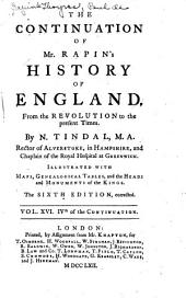 The History of England: Volume 16
