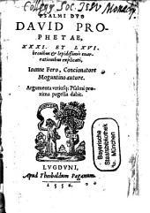 Psalmi duo David Prophetae 31 et 66 brevibus et lepidissimis enarrationibus explicati