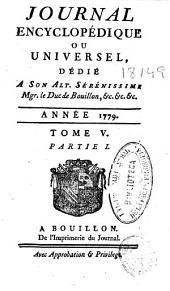 Journal encyclopédique: Volume5,Partie1
