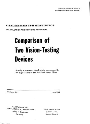 Comparison of Two Vision testing Devices