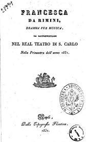 Francesca da Rimini dramma per musica [la poesia è del signor Felice Romani