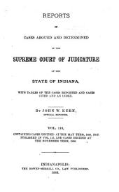 Reports of Cases Argued and Determined in the Supreme Court of Judicature of the State of Indiana: Volume 116