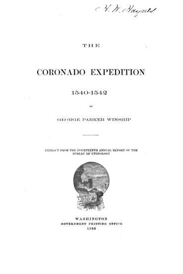 The Coronado Expedition  1540 1542 PDF