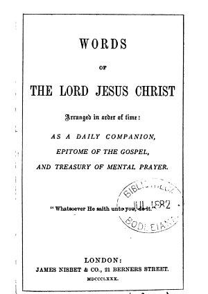 Words of     Jesus Christ