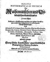 Delitiae mathematicae et physicae: Volume 2