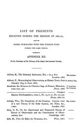 Monthly Notices of the Astronomical Society: 1860/61