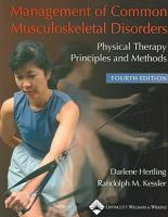 Management of Common Musculoskeletal Disorders PDF