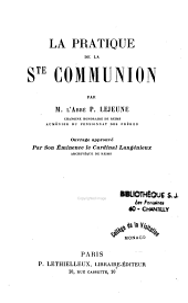 La Pratique de la Sainte Communion
