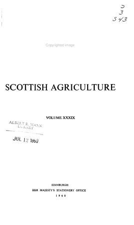 Scottish Agriculture PDF