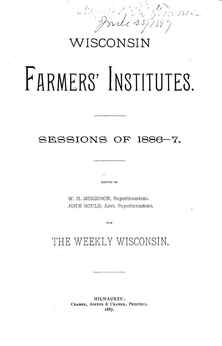 Wisconsin Farmers' Institutes