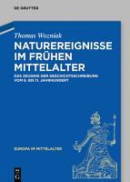 Naturereignisse im fr  hen Mittelalter PDF
