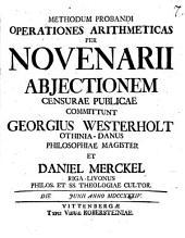 Methodus probandi operationes arithmeticas per novenarii abiectionem