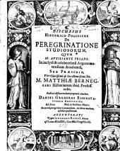 Discursus Historico-Politicus De Peregrinatione Studiosorum