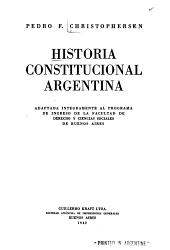 Historia constitucional argentina PDF