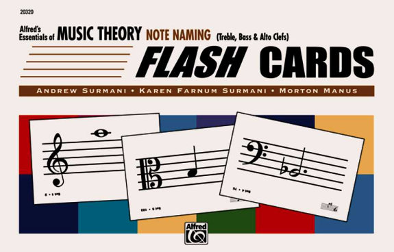 Alfred's Essentials of Music Theory Note Naming Flash Cards