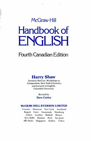 McGraw Hill Handbook of English PDF