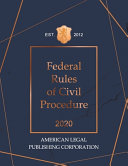 Federal Rules of Civil Procedure 2020 Edition PDF