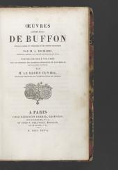 Oeuvres complètes de Buffon, mises en ordre et précédées d'une notice historique par m.A. Richard ...: Notice sur la vie de Buffon. Discours académiques. Théorie de la terre