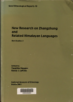 New Research on Zhangzhung and Related Himalayan Languages PDF