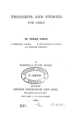 Thoughts And Stories For Girls