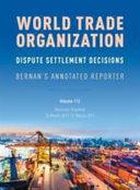 World Trade Organization Dispute Settlement Decisions PDF