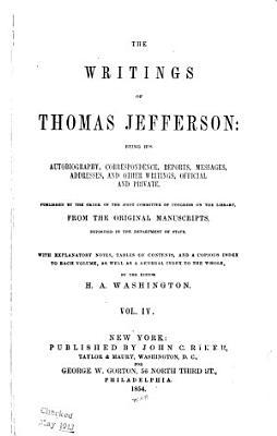 The Writings of Thomas Jefferson  Correspondence  contin
