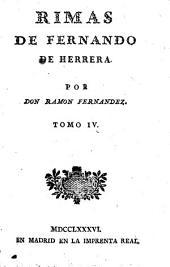 Colección de poetas españoles: Rimas de Fernando de Herrera