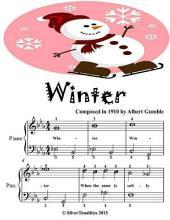 Winter - Easiest Piano Sheet Music Junior Edition