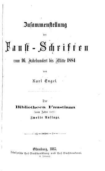 Zusammenstellung der Faust Schriften PDF
