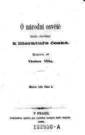 O národní osvětě hledíc obzvláště k literatuře české