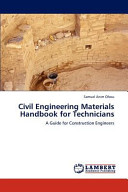 Civil Engineering Materials Handbook for Technicians PDF