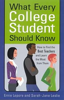 What Every College Student Should Know Book