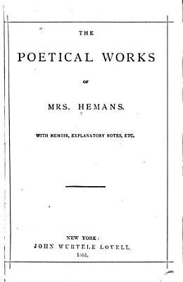 The Poetical Works of Felicia Hemans PDF